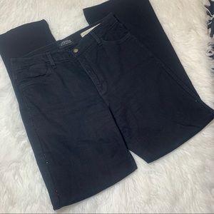 NYDJ black bootcut Jeans w black rhinestones Sz 6